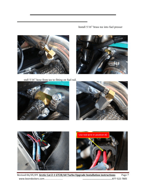 small resolution of step 6 install auxiliary fuel injector boondocker arctic cat z1 turbo upgrade user manual page 7 8