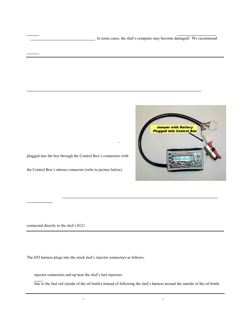hight resolution of ii control box harness connectors iii battery jumper connector iv