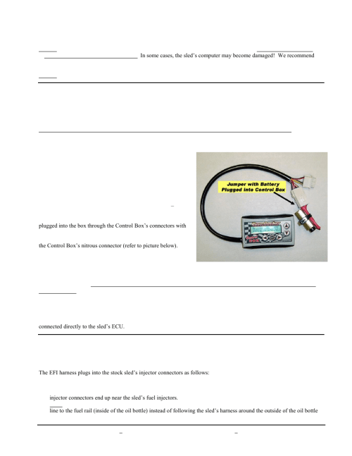 small resolution of ii control box harness connectors iii battery jumper connector iv