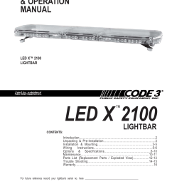code 3 2100 user manual 16 pages code 3 lightbar wiring diagram code 3 light bar wiring diagram [ 954 x 1235 Pixel ]