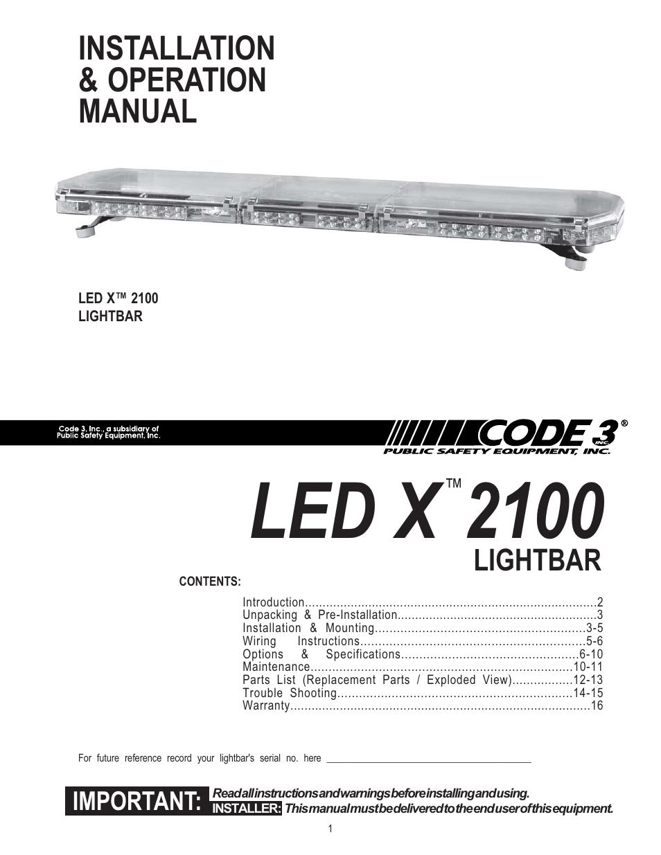 medium resolution of code 3 2100 user manual 16 pages code 3 lightbar wiring diagram code 3 light bar wiring diagram