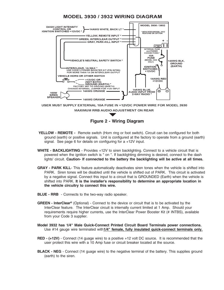 hight resolution of code 3 scorpion siren user manual page 5 16 also for compact siren