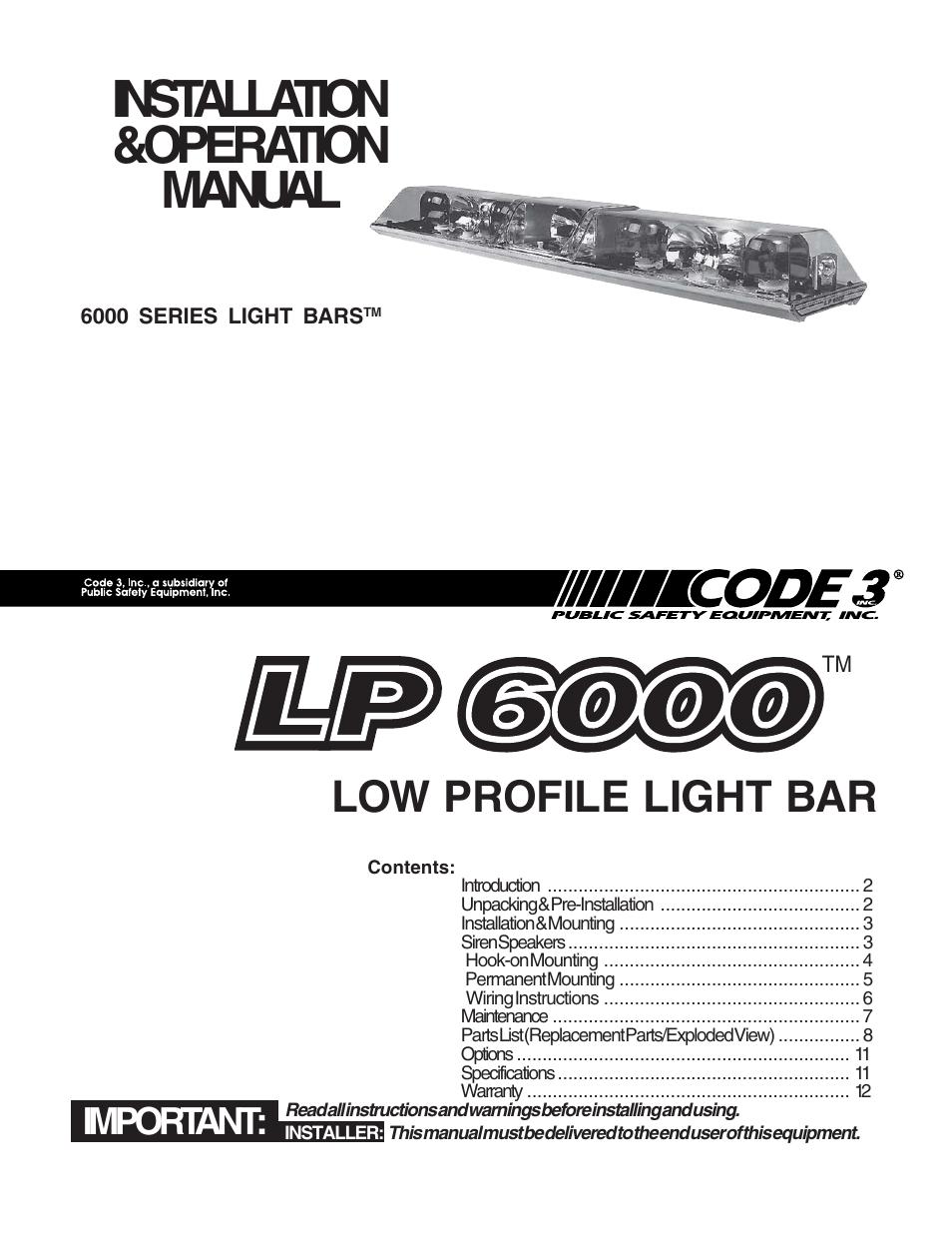 code 3 mx7000 lightbar wiring diagram