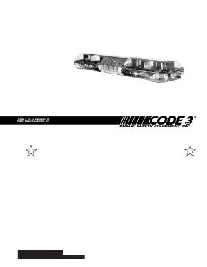 Code 3 MX 7000 User Manual | 32 pages