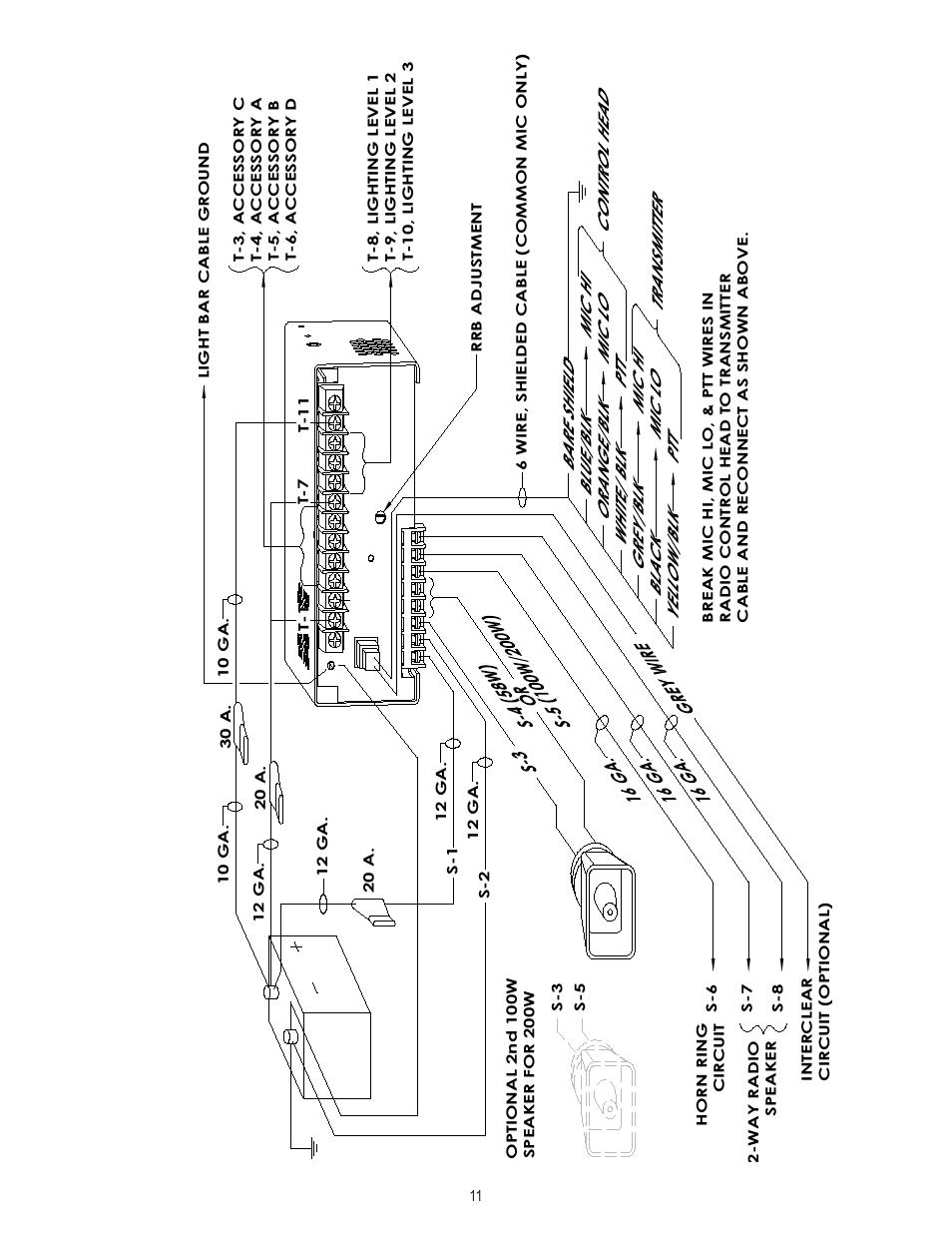 medium resolution of code 3 vcon wiring wiring diagrams code 3 model 3050 code 3 vcon siren wiring diagram