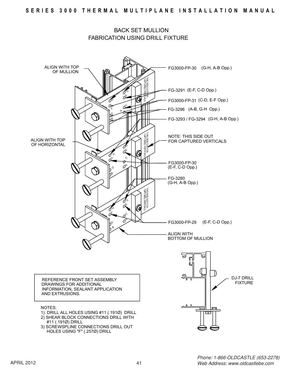Backset-drill-jig, Back set mullion fabrication using