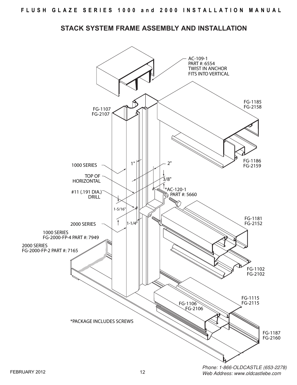 Stack-frame-assy, Stack system frame assembly and
