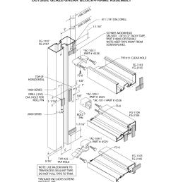 frame assy outside glaze outside glaze shear block frame assembly oldcastle buildingenvelope fg 2000 user manual page 6 27 [ 954 x 1235 Pixel ]