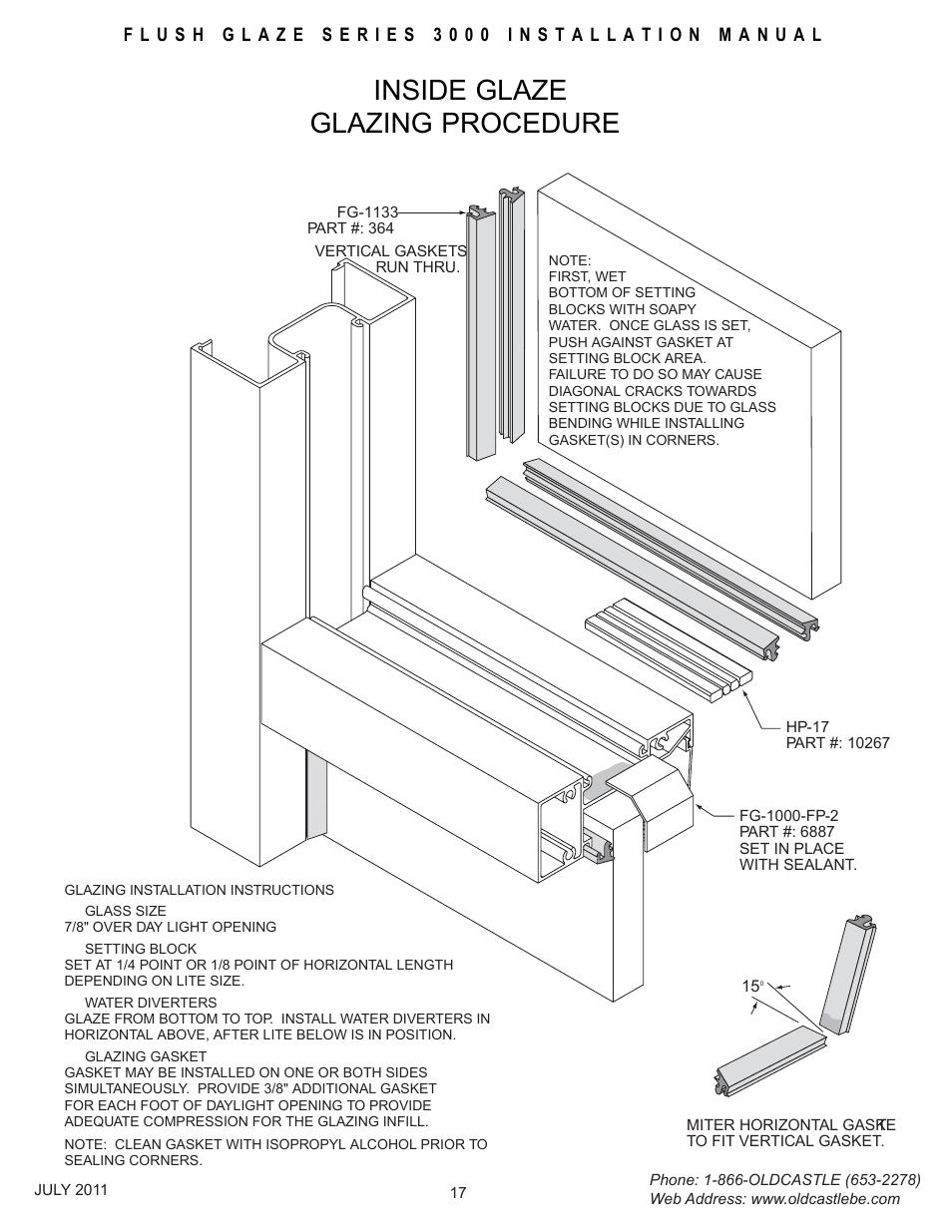 Insideglz-glazing, Inside glaze glazing procedure