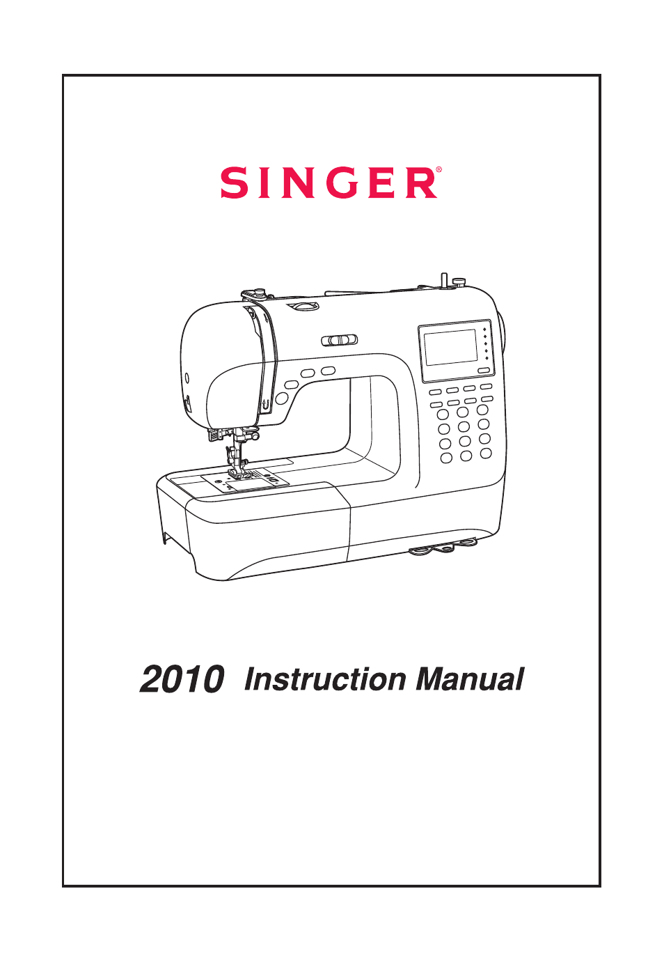 SINGER 2010 SUPERB Professional Instruction Manual User