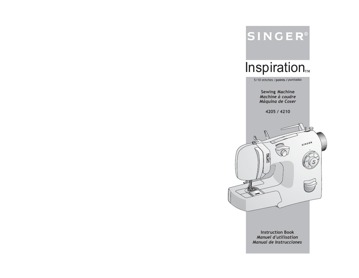 Manual Inspiration 4210 Singer