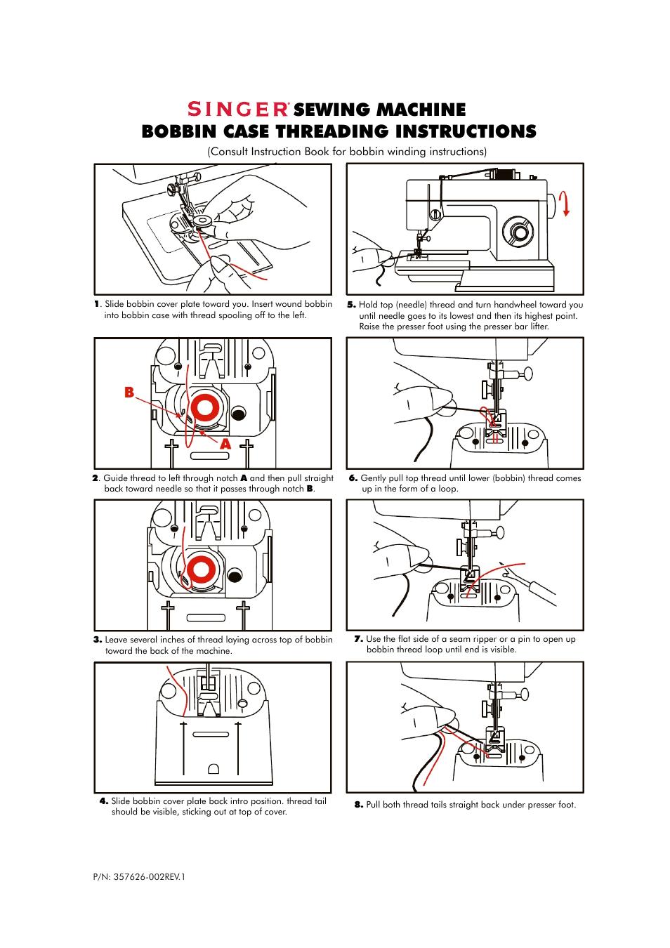 SINGER P-1250 PROFESSIONAL Quick-Start Guide User Manual