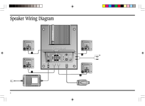 Speaker wiring diagram | Cambridge SoundWorks FPS2000 User