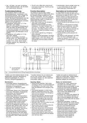 Funktionsbeschreibung, Function description, Description du fonctionnement   Pilz PNOZ X4 240VAC