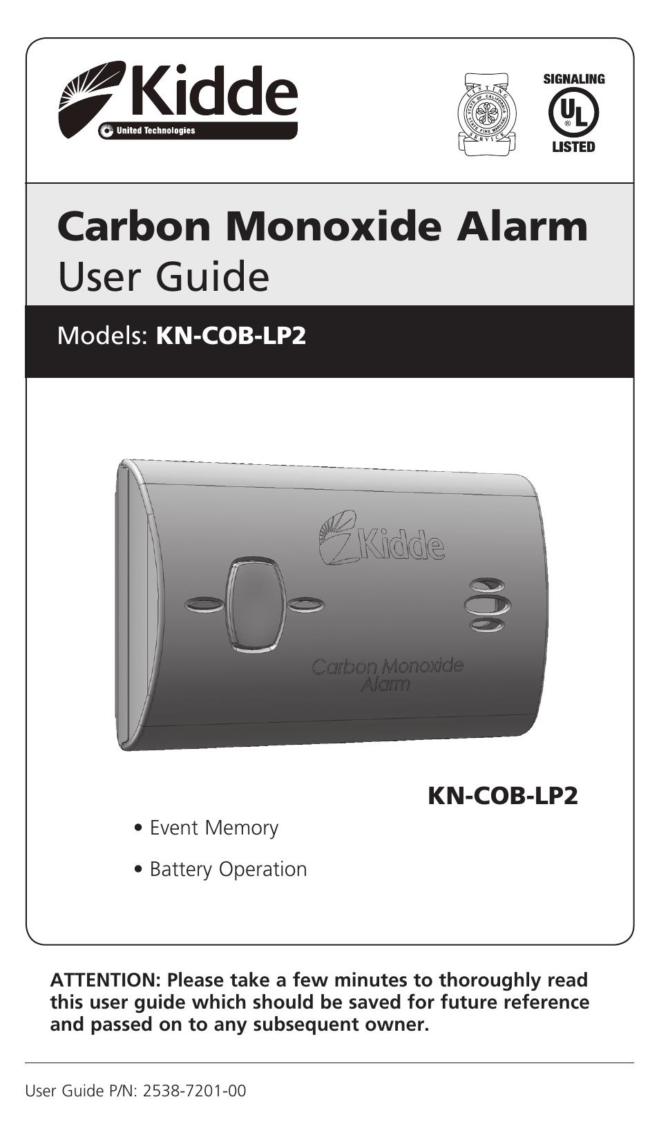 Kidde KNCOBLP2 User Manual  16 pages