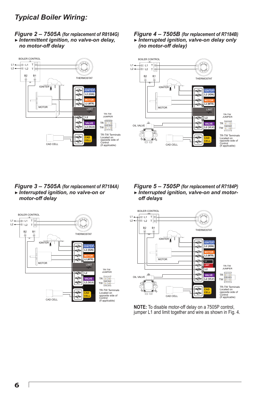 medium resolution of  typical boiler wiring beckett 7505 user manual page 6 12 on oil furnace beckett oil pump wiring diagram