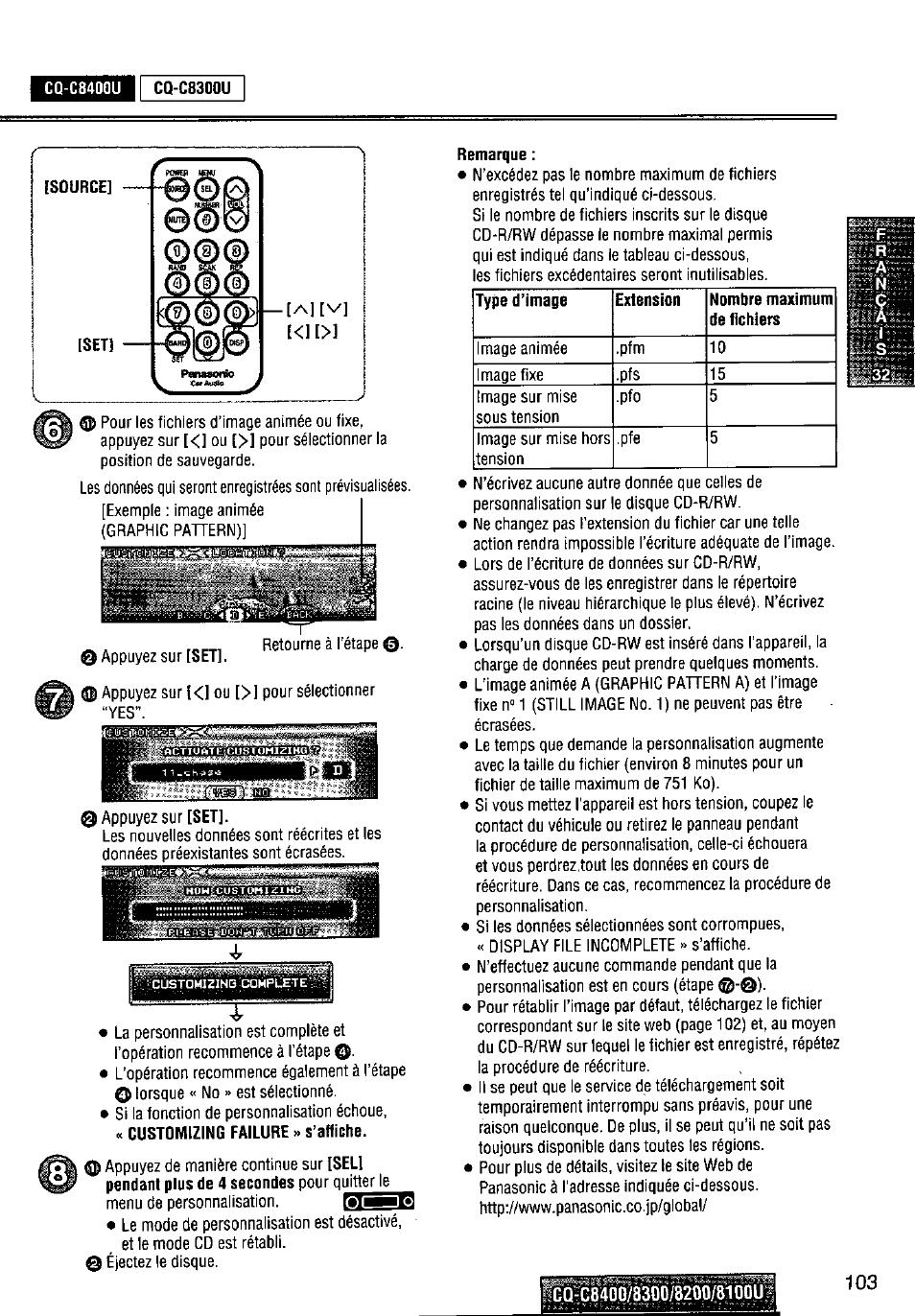 medium resolution of cq c8400u remarque p1 e panasonic cq c8300u user manual