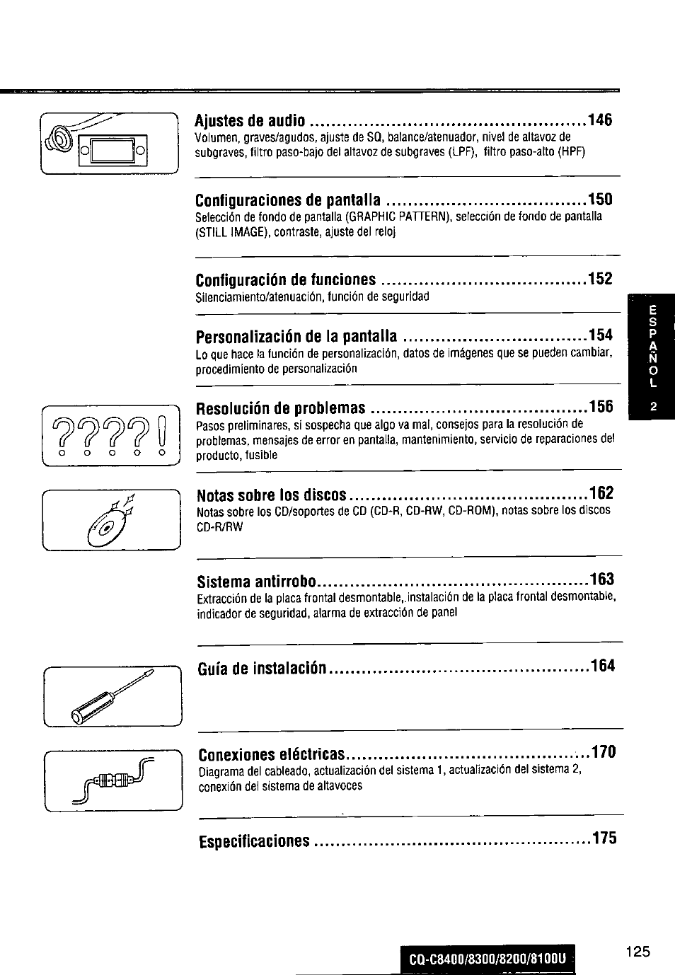 medium resolution of panasonic cq c8300u user manual page 125 176