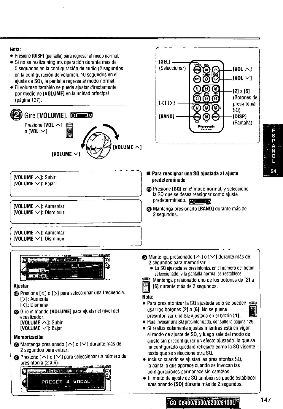 medium resolution of panasonic cq c8300u user manual page 147 176