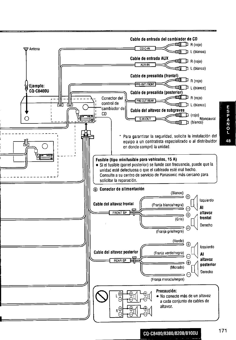 hight resolution of panasonic cq c8300u user manual page 171 176