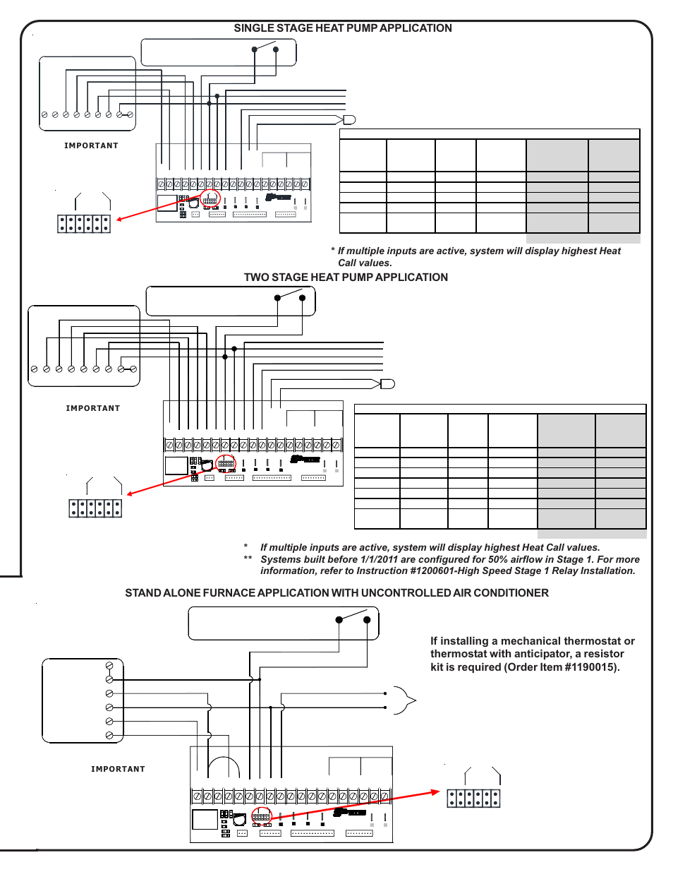 medium resolution of two stage heat pump application rc w y y1 compressor y2 compressor stage 2 steffes 5140 simplified installation guide user manual page 7 8