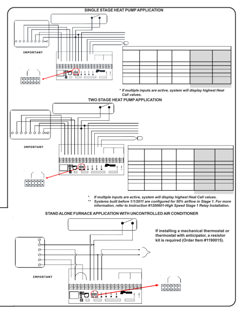 small resolution of two stage heat pump application rc w y y1 compressor y2 compressor stage 2 steffes 5140 simplified installation guide user manual page 7 8