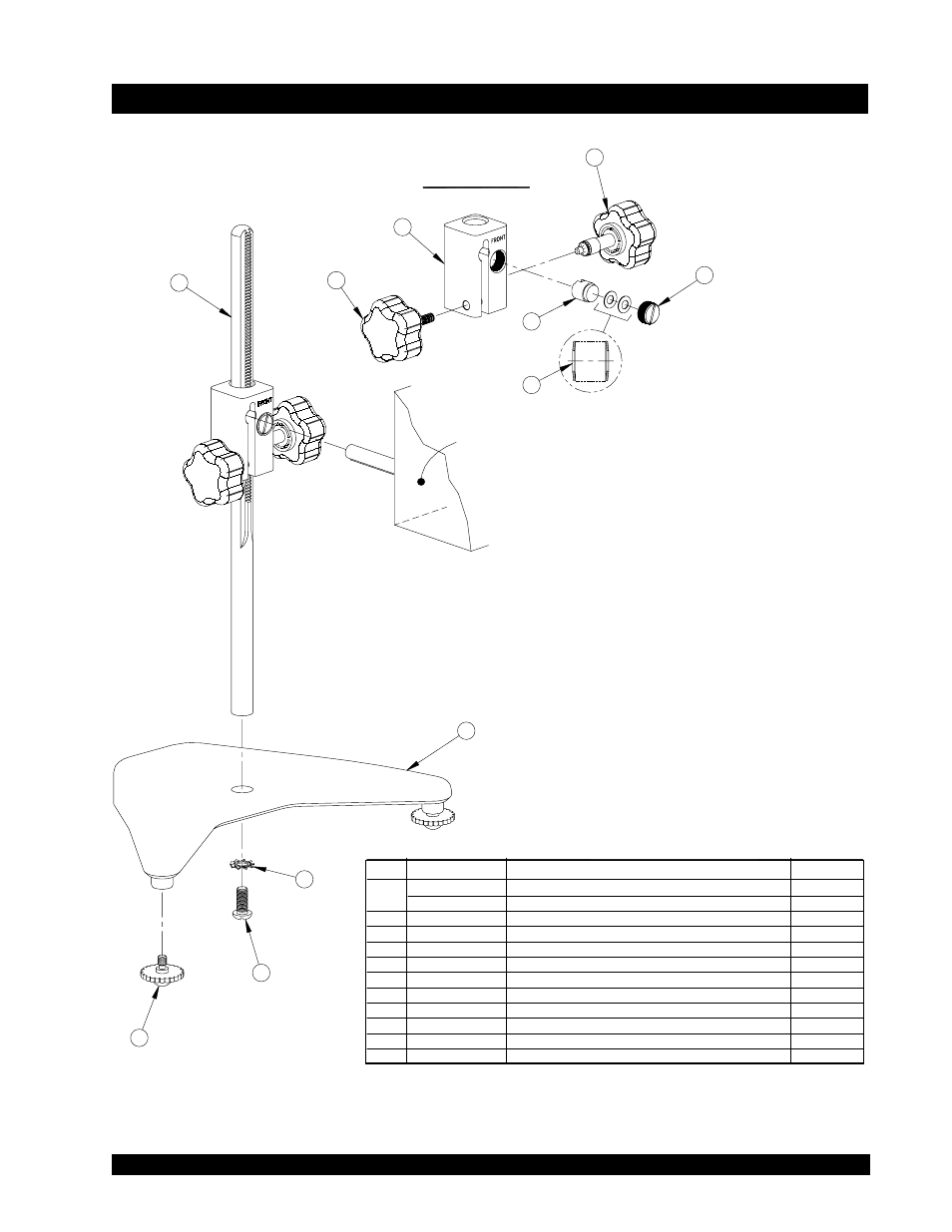 Appendix h, Laboratory stand with parts identification