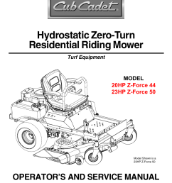 cub cadet 23hp z force 50 user manual 32 pages also for  [ 954 x 1235 Pixel ]