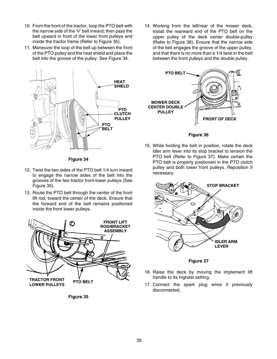 hight resolution of cub cadet gt 2550 user manual page 35 56