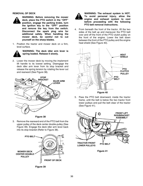 small resolution of cub cadet gt 2550 user manual page 36 56 cub cadet 1250 wiring diagram cub