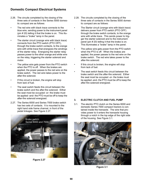 small resolution of electric clutch and fuel pump domestic compact electrical systems cub cadet 5000 series user manual page 94 96