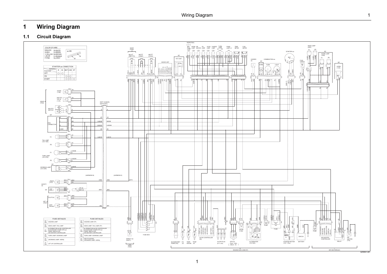 1wiring diagram, Wiring diagram 1 1, 1 circuit diagram