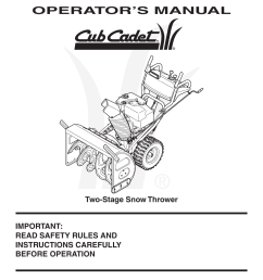 cub cadet snow blower schematic [ 954 x 1235 Pixel ]