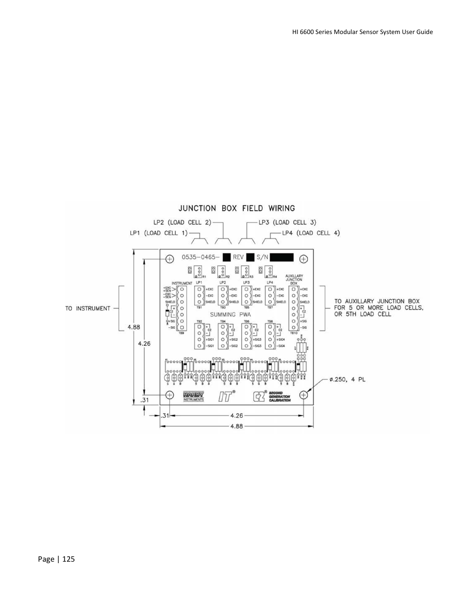 hight resolution of appendix e wiring junction boxes or summing cards hardy hi 6600 series modular sensor system user manual page 125 127