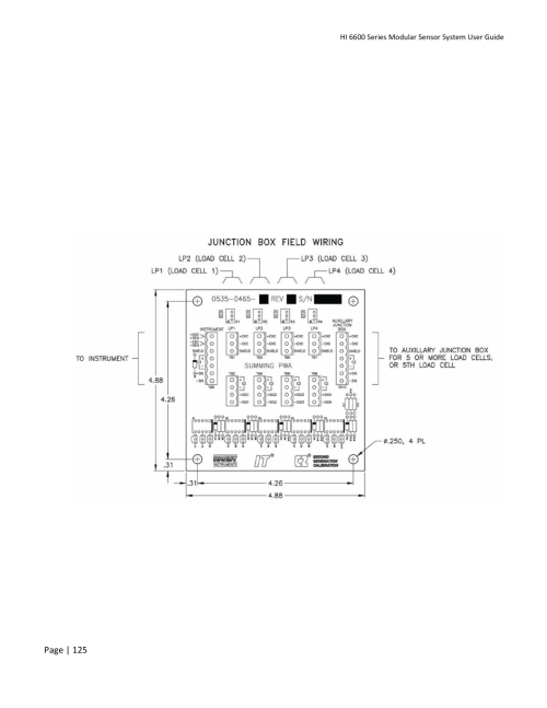 small resolution of appendix e wiring junction boxes or summing cards hardy hi 6600 series modular sensor system user manual page 125 127
