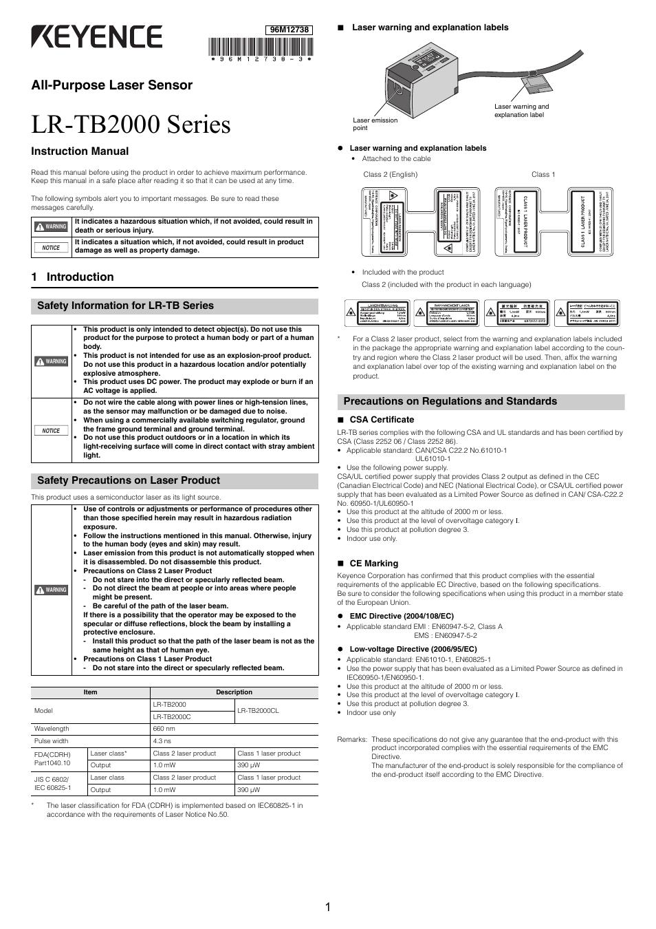Manual Reset Wiring Diagram Keyence Lr Tb2000 Series User Manual 12 Pages Original