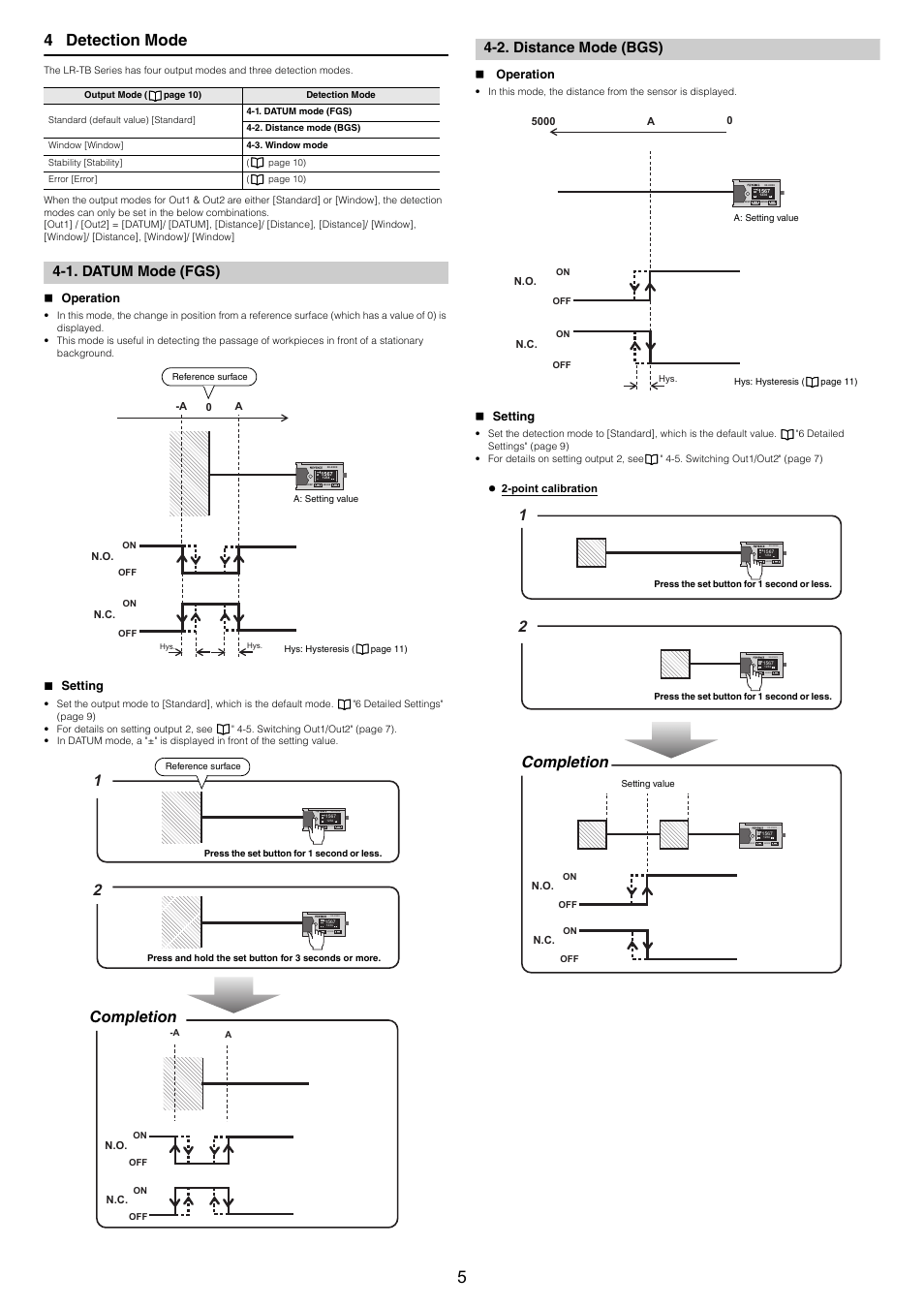 hight resolution of 1 datum mode fgs operation setting keyence lr tb5000 series user manual page 5 12