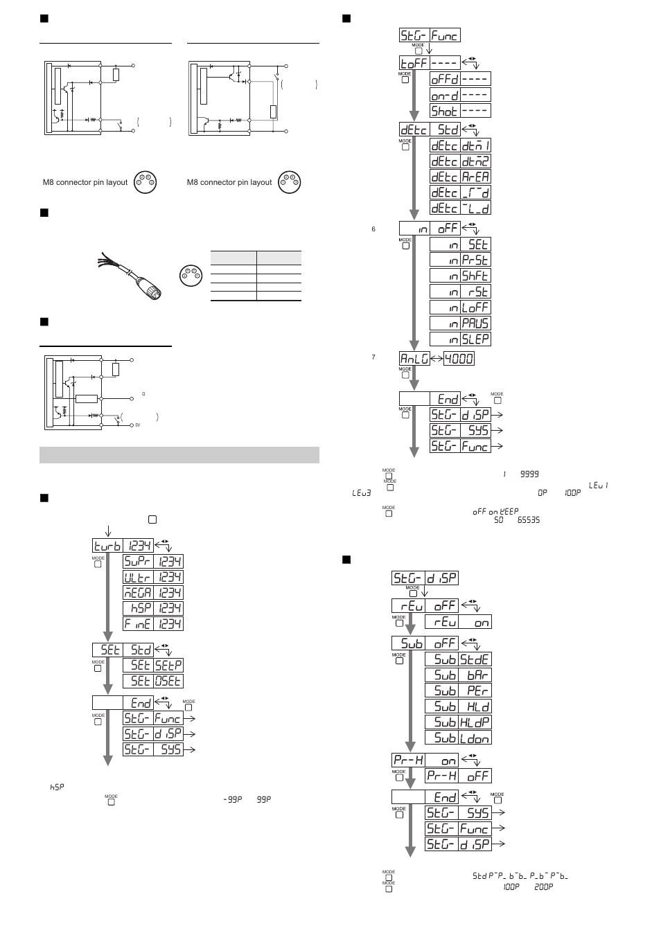 M8 connector type, Lv-n11cn / n12cn, Lv-n11cp / n12cp
