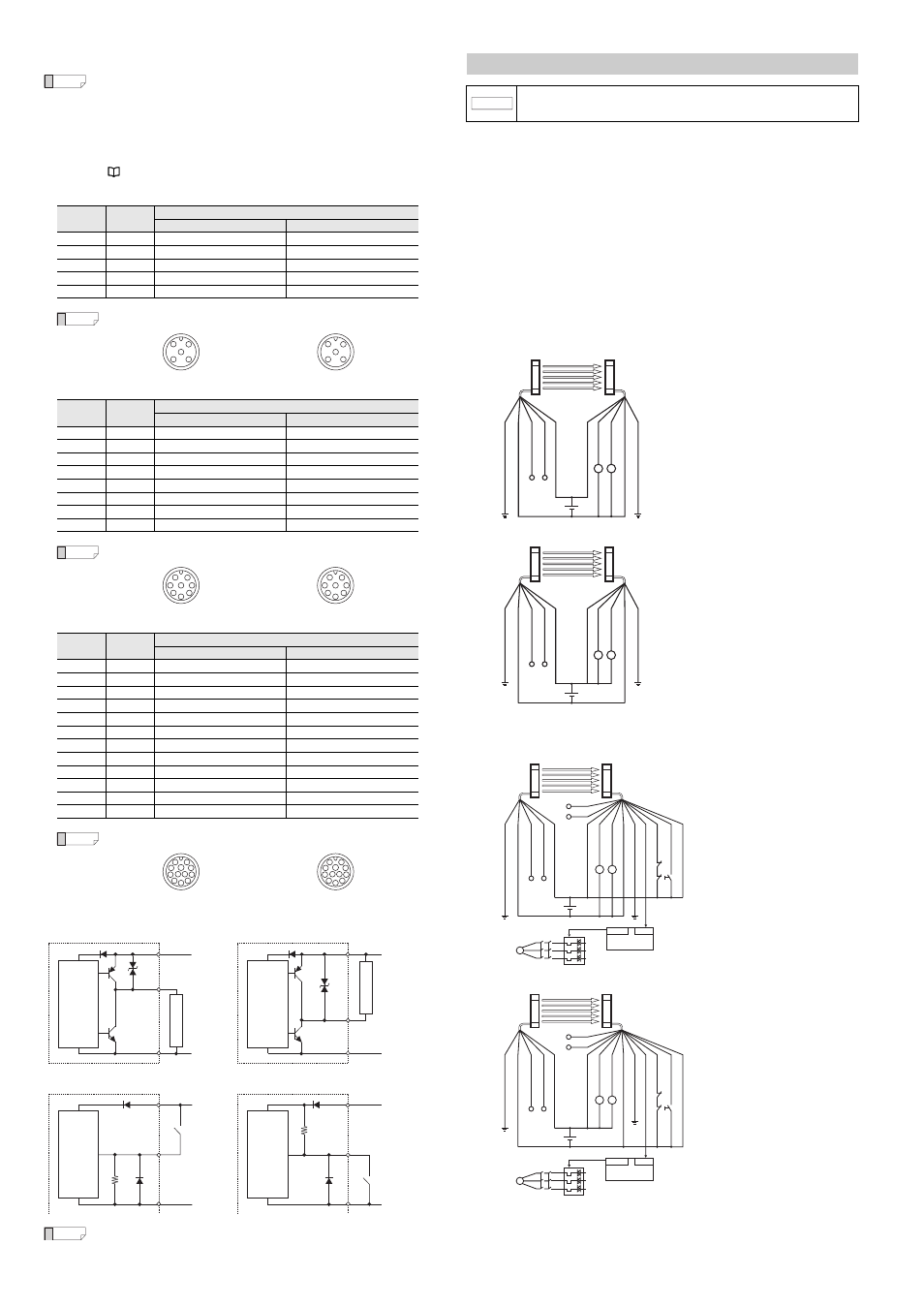 Examples of wiring, E gl-r-im cable color and pin position