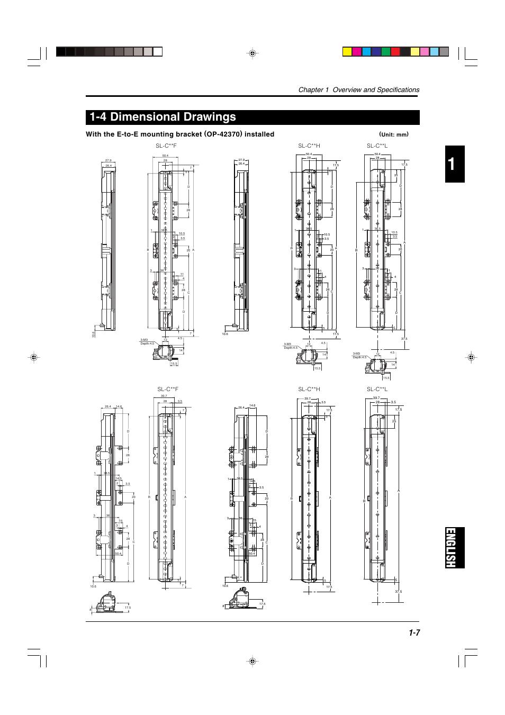 4 dimensional drawings, English 1-4 dimensional drawings