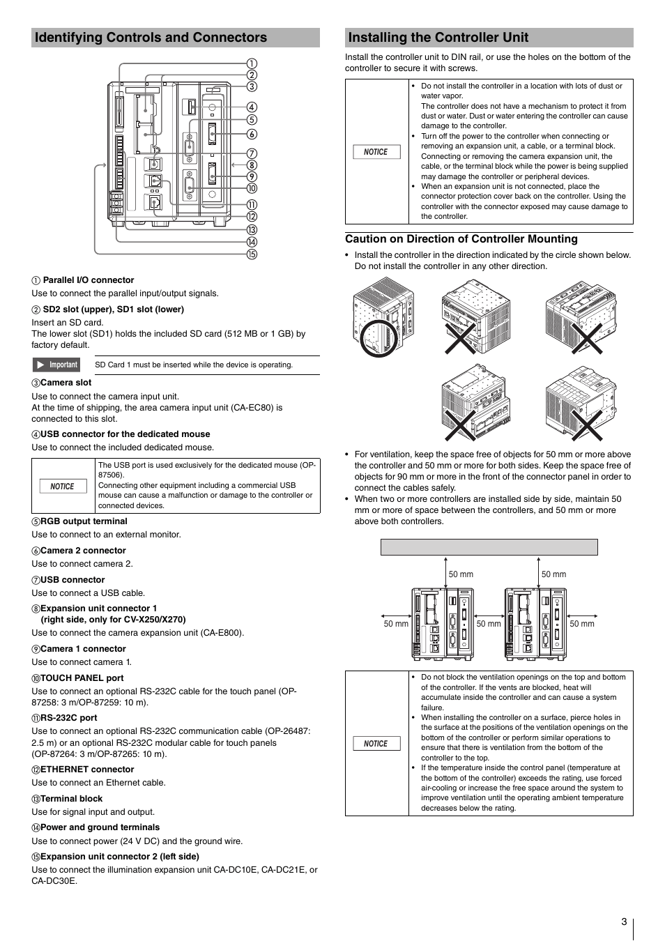 Identifying controls and connectors, Installing the