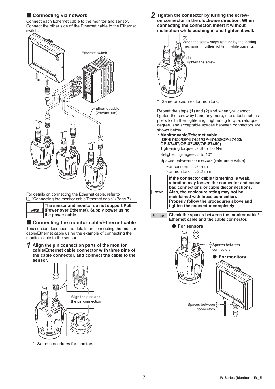 hight resolution of connecting via network connecting the monitor cable ethernet cable keyence iv m30 user manual page 7 10