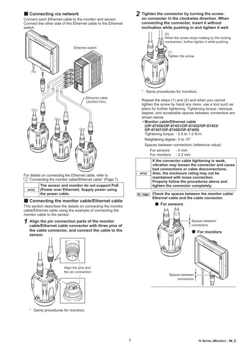 small resolution of connecting via network connecting the monitor cable ethernet cable keyence iv m30 user manual page 7 10
