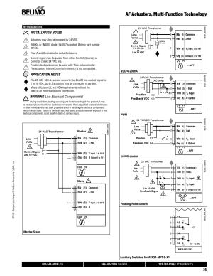 Af actuators, multifunction technology, Warning live