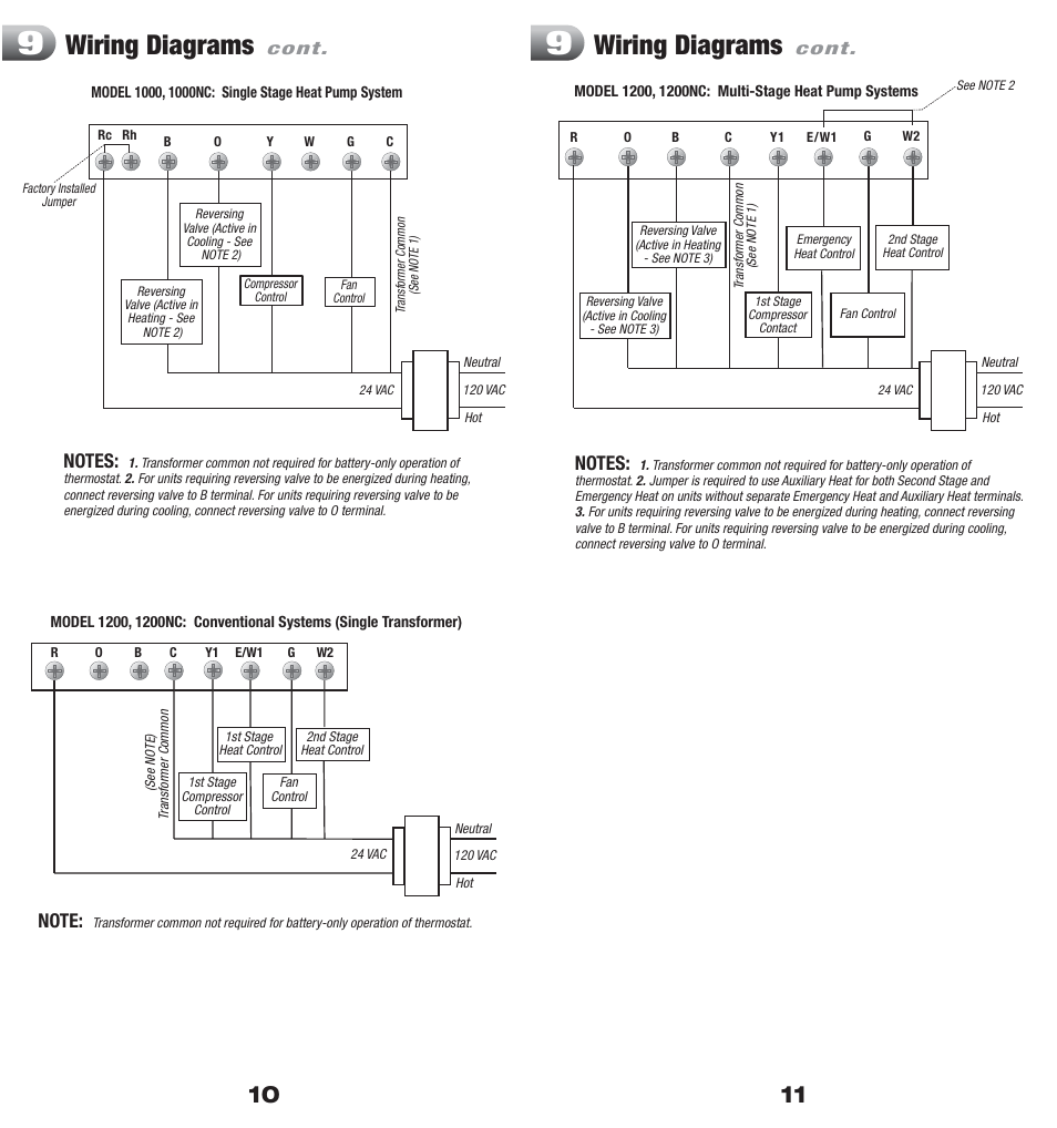 2 stage thermostat wiring diagram universal ignition switch diagrams | braeburn 1200 user manual page 6 / 7
