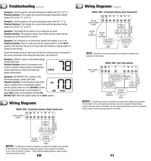 small resolution of troubleshooting wiring diagrams braeburn 3200 user manual page 6 7