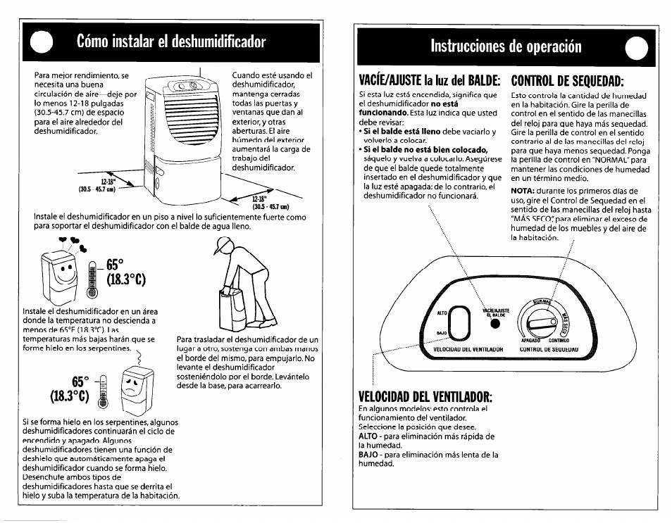 Cómo instalar el deshumidificador, 3°c), Instrucciones de