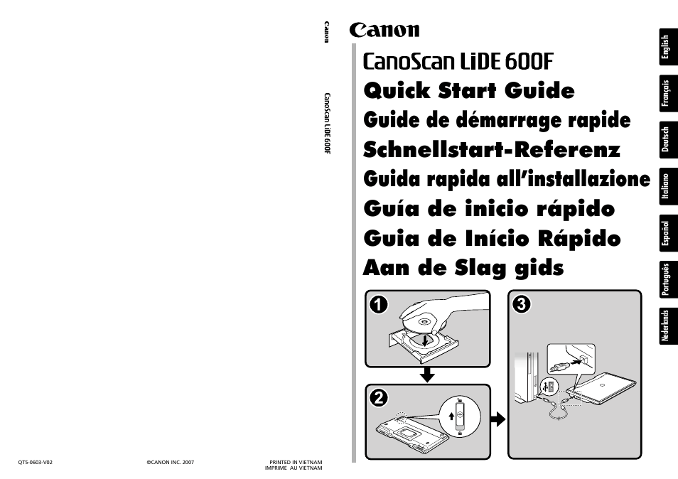 CANOSCAN LIDE 600F MANUAL PDF DOWNLOAD