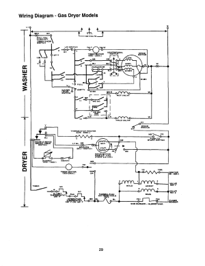 Wiring diagram  gas dryer models | Whirlpool Thin Twin
