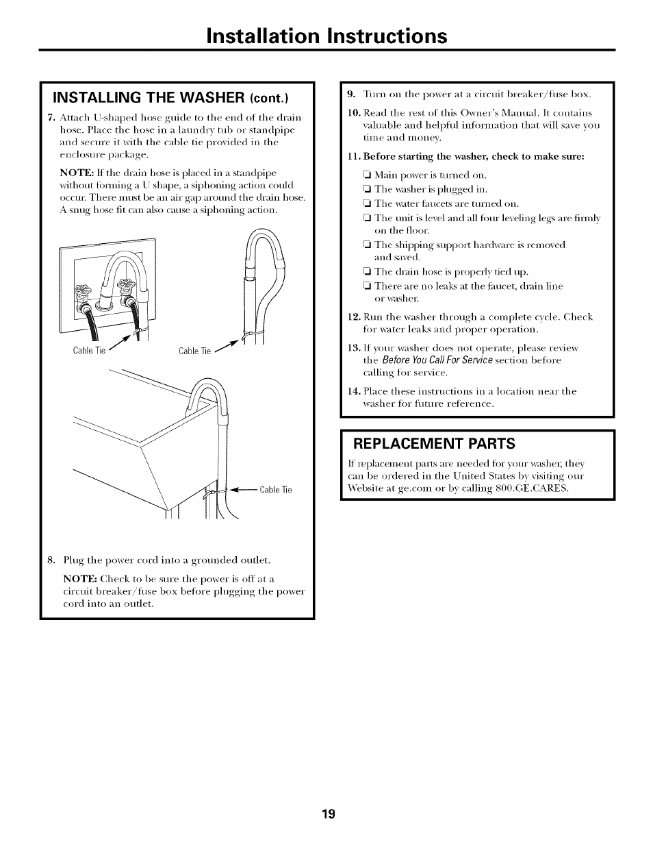 hight resolution of replacement parts installation instructions ge laveuses